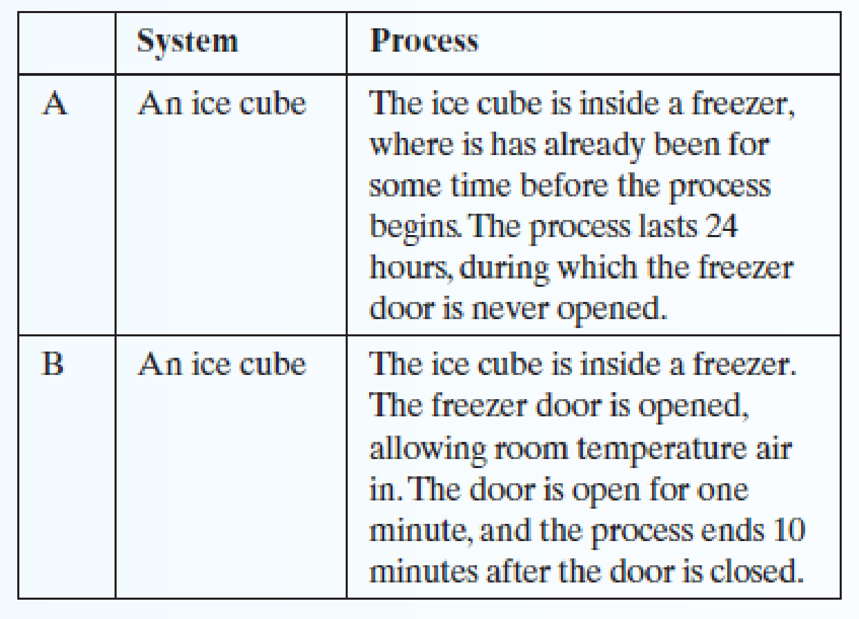 Chapter 1.6, Problem 3E, Several systems and processes are described below. For each of them, determine whether the system is , example  1