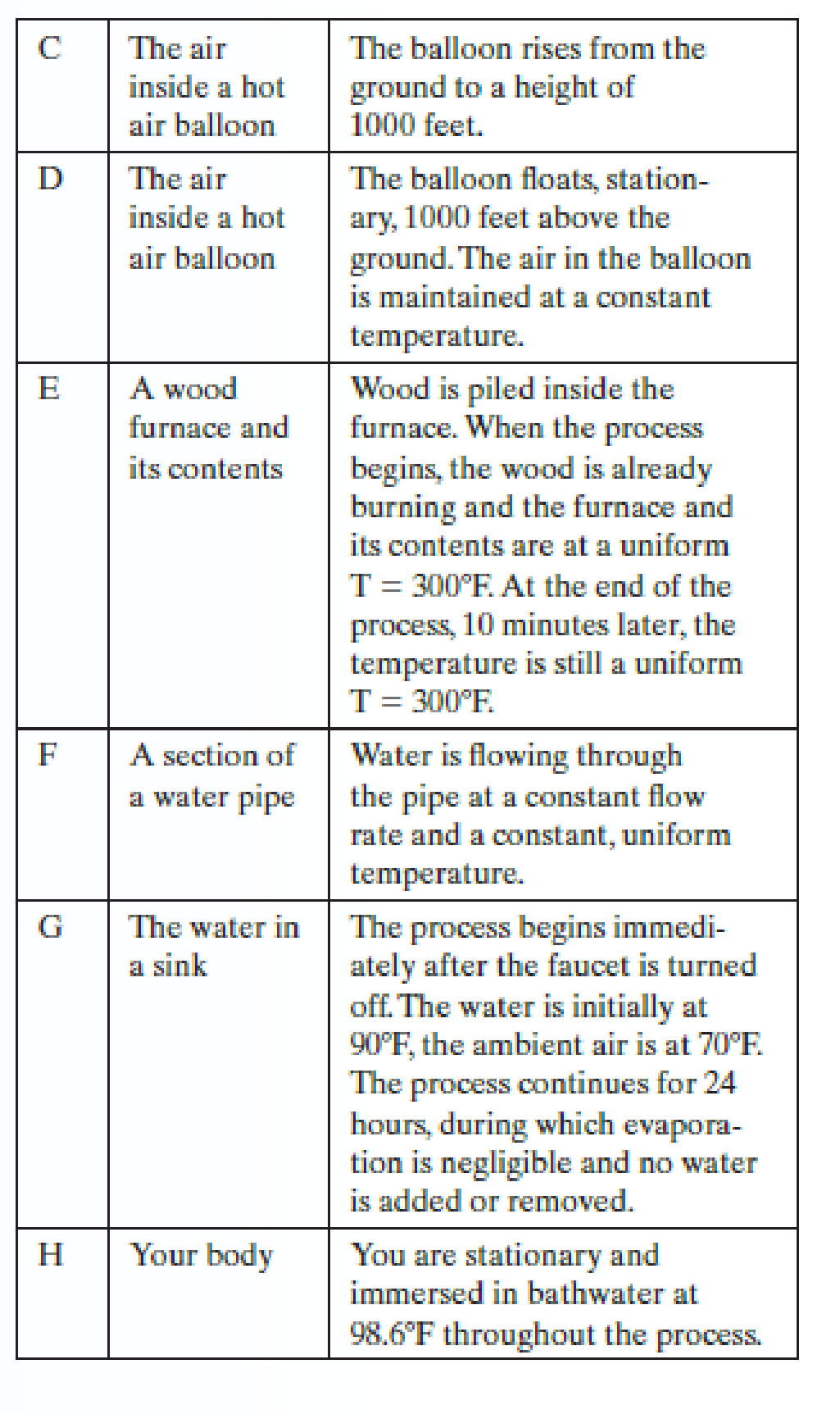 Chapter 1.6, Problem 3E, Several systems and processes are described below. For each of them, determine whether the system is , example  2