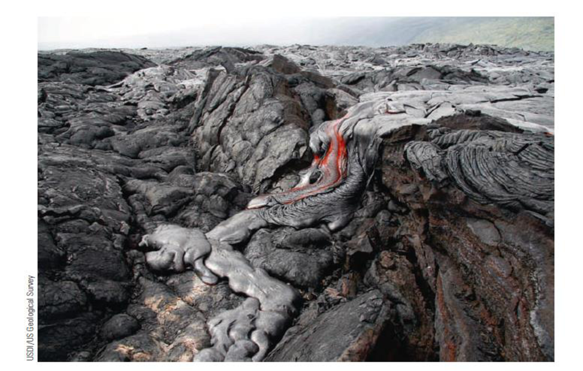 Chapter 10, Problem 8FQ, FIGURE 10.8 Recently erupted basaltic lava on the island of Hawaii. Molten basalt typically erupts