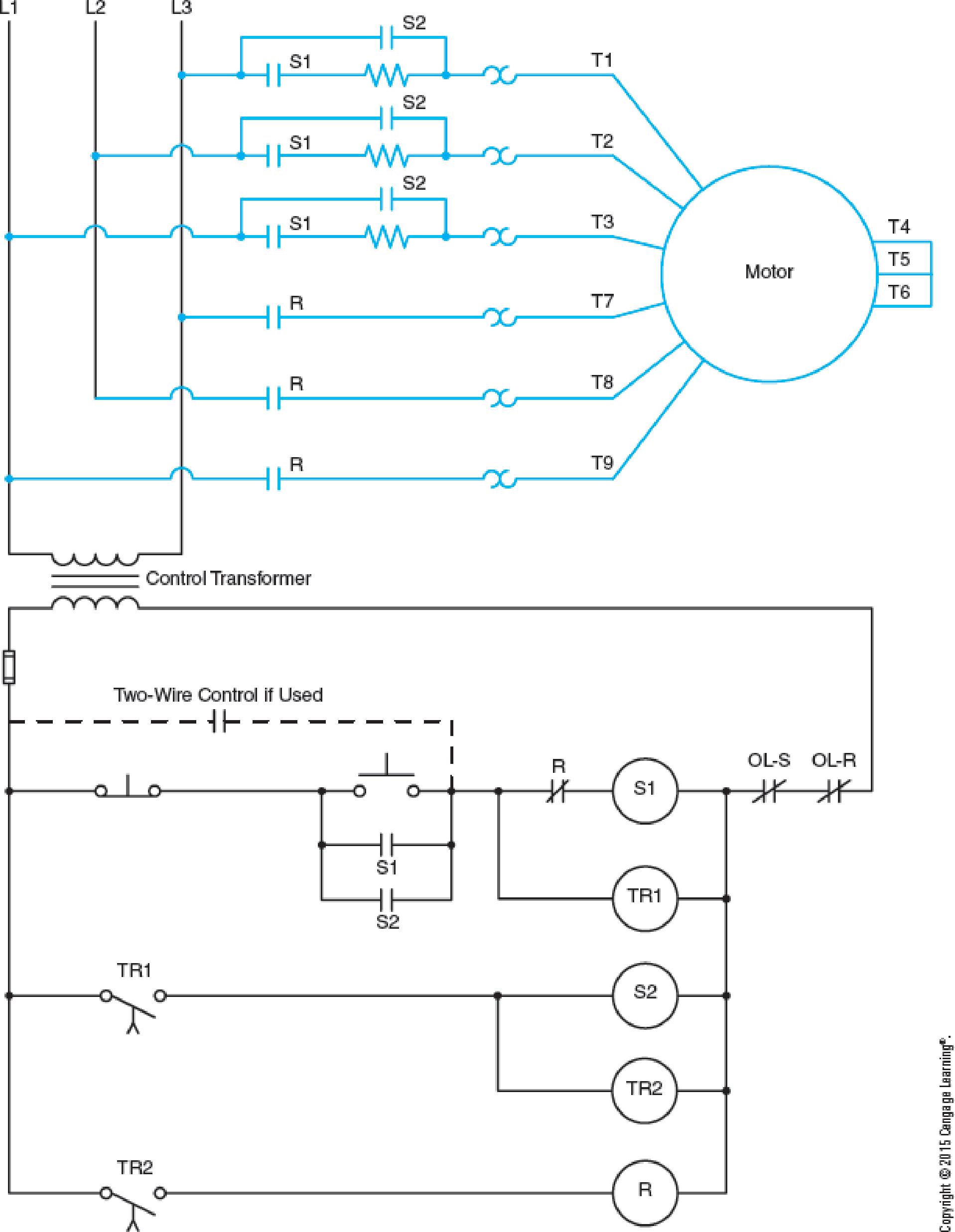 Chapter 28, Problem 8SQ, Refer to the circuit shown in Figure 284. When the start button is pressed, the motor does not start