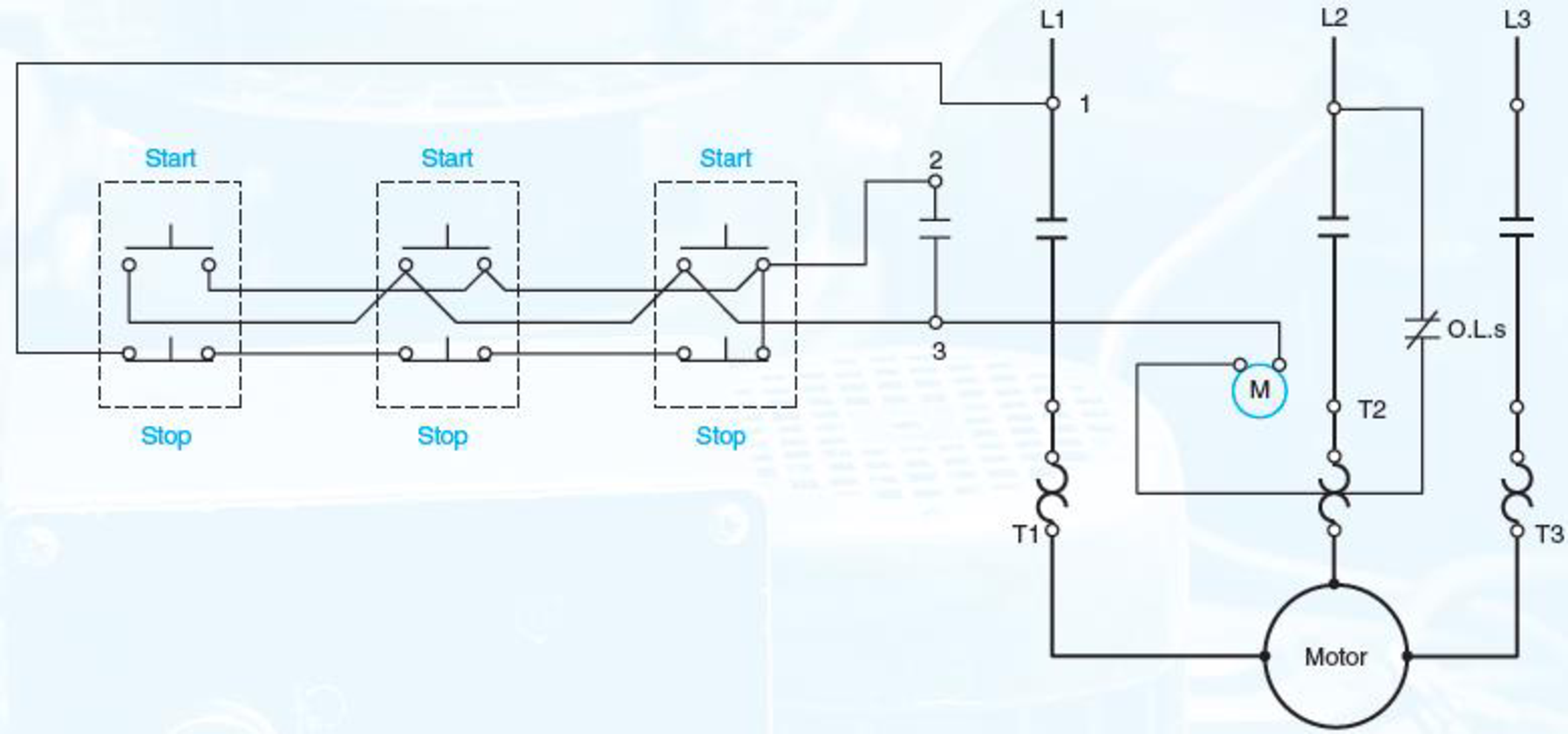 motor wiring drawing draw a line diagram of the control circuit shown in figure 5   21  control circuit shown in figure 5   21