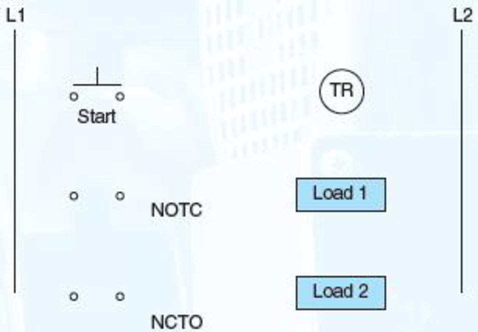 Chapter 9, Problem 7SQ, Connect these components in Figure 917: a. The start push button on the timer coil b. Load 1 to NOTC