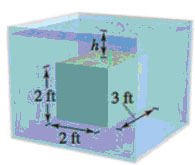 Chapter 7.7, Problem 5E, Buoyant Force In Exercises 5 and 6, find the buoyant force of a rectangular solid of the given