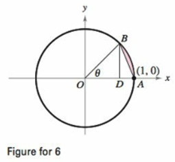 Chapter 8, Problem 6PS, Finding a Limit The segment BD is the height of  OAB. Let R be the ratio of the area of  DAB to that