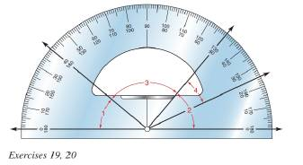 Chapter 1.2, Problem 19E, Judging from the protractor provided, estimate the measure of each angle to the nearest multiple of