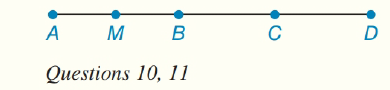 Chapter 1.CT, Problem 10CT, In the figure A-B-C-D, and M is the midpoint of AB. If AB=6.4inches and BD=7.2inches, find
