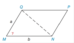 Chapter 11.4, Problem 40E, Find the area of MNPQifa=8cm,b=12cm,and=70. Answer to the nearest tenth of a square centimeter. See