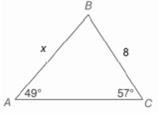 Chapter 11.CR, Problem 9CR, In Exercises 9 to 12, use the Law of Sines or the Law of cosines to find the indicated length of