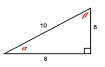 Chapter 11.CT, Problem 2CT, For the right triangle shown, express each ratio as a fraction in lowest terms: a cos ______ b sin