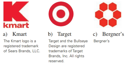 Chapter 2.6, Problem 28E, Describe the types of symmetry displayed by each of these Department store logos.