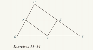 Chapter 4.2, Problem 13E, In Exercises 11 to 14, assume that X, Y, and Z are midpoints of the sides of RST. For Exercise 12 to