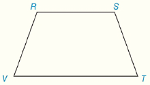 Chapter 4.CT, Problem 12CT, In trapezoid RSTV, RSVT. a Which sides are the legs of RSTV?_ b Name two angles that are