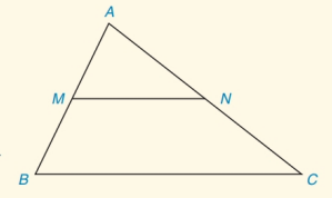Chapter 4.CT, Problem 8CT, In ABC, M is the midpoint of AB and N is the midpoint if AC. a How are the line segments MNandBC