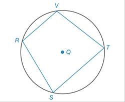 Chapter 6.2, Problem 47E, Given: Quadrilateral RSTV inscribed in Q Prove: mR+mT=mV+mS