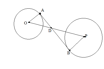 Chapter 6.3, Problem 39E, The center of a circle of radius 2 inches is at a distance of 10 inches from the center of a circle