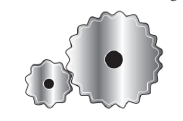 Chapter 6.3, Problem 43E, For the drawing in Exercise 42, suppose that the larger gear has 20 teeth and the smaller gear has