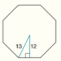 Chapter 7.CT, Problem 14CT, For a regular octagon, the length of the apothem is approximately 12 cm and the length of the radius