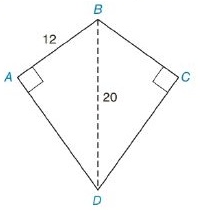 Chapter 8.2, Problem 18E, In Exercises 13 to 18, find the area of the given polygon. Kite ABCD