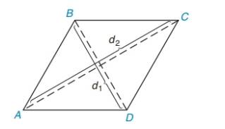 Chapter 8.2, Problem 3E, In Exercises 1 to 8, find the perimeter of each polygon. ABCD with ABBC d1=4md2=10m
