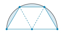 Chapter 8.4, Problem 46E, A tabletop is semicircular when its three congruent drop-leaves are used. By how much has the tables