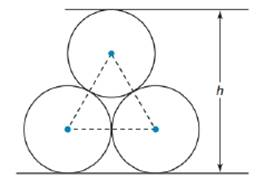 Chapter 8.5, Problem 40E, Three pipes, each of radius length 4 in., are stacked as shown. What is the height of the stack?