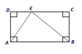 Chapter 8.CT, Problem 4CT, If the area of rectangle ABCD is 46 cm2, find the area of ABE. _