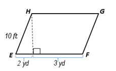 Chapter 8.CT, Problem 5CT, In square feet, find the area of EFGH. _
