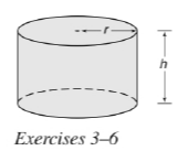 Chapter 9.3, Problem 4E, For the right circular cylinder shown on page 417, r=1.75 in. and h=4.23 in. Find the approximate