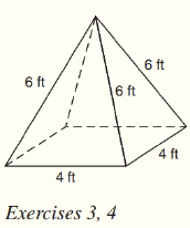 Chapter 9.CT, Problem 3CT, For the regular square pyramid shown, find the total number of a vertices. __________ b lateral