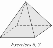 Chapter 9.CT, Problem 6CT, Find the height of the regular square pyramid shown if each edge of the base measures 8 in. and the