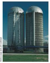 Chapter 9, Problem 5CQ, A typical silo on a farm has many bands wrapped around its perimeter, as shown in Figure CQ9.5. Why