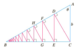 Chapter 11.2, Problem 80E, A right triangle ABC is given with A= and |AC|=b. CD is drawn perpendicular to AB, DE is drawn
