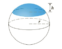 Chapter 5.2, Problem 49E, Find the volume of the described solid S. A cap of a sphere with radius r and height h