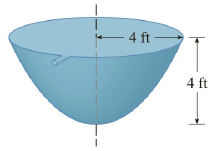 Chapter 5.R, Problem 29E, A tank full of water has the shape of a paraboloid of revolution as shown in the figure; that is,