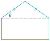 Chapter 14, Problem 65RE, A pentagon is formed by placing an isosceles triangle on a rectangle, as shown in the figure. II the