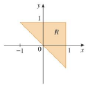 Chapter 15.3, Problem 2E, A region R is shown. Decide whether to use polar coordinates or rectangular coordinates and write