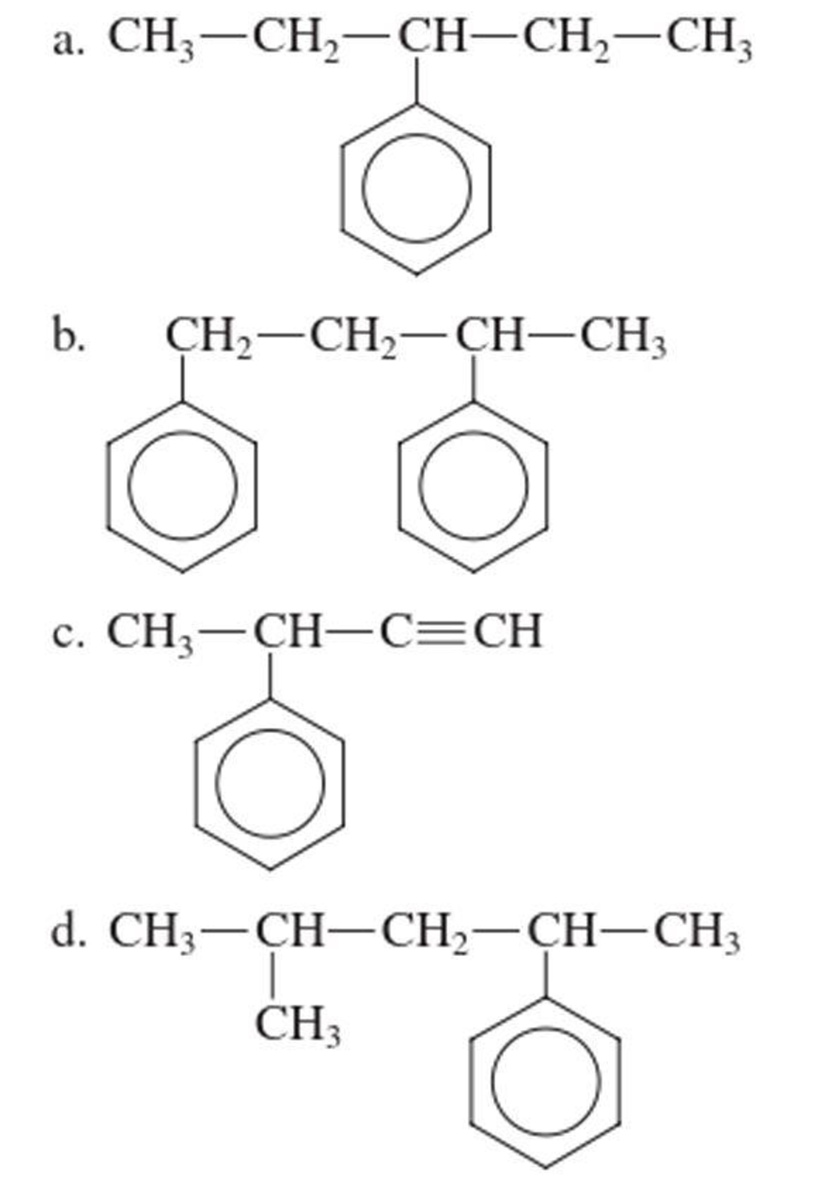 Chapter 13, Problem 13.114EP, Assign an IUPAC name to each of the following compounds in which the benzene ring is treated as a