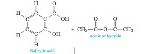 Chapter 10, Problem 10.57P, Aspirin is prepared by the reaction of salicylic- acid with acetic anhydride as shown in the