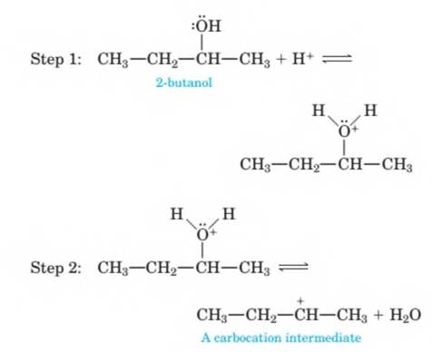 Chapter 14, Problem 14.71P, 14-71 The mechanism of the acid-catalyzed dehydration of an alcohol to an alkene is the reverse of