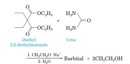 Chapter 19, Problem 19.45P, 5 Barbiturates are prepared by treating diethyl malonate or a derivative of diethyl malonate with