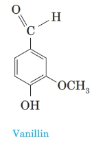 Chapter 20, Problem 20.85P, 5 Vanillin (4-hydroxy-3-methoxybenzaldehyde), the principal component of vanilla, occurs in vanilla