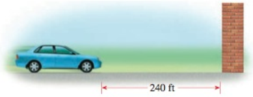 Chapter 1.8, Problem 121E, Stopping Distance For a certain model of car the distance d required to stop the vehicle if it is