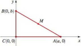 Chapter 1.9, Problem 50E, The point M in the figure is the midpoint of the line segment AB. Show that M is equidistant from