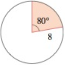 Chapter 6.1, Problem 63E, Find the area of the sector shown in each figure. (a) (b) , example  1