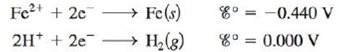 Chapter 17, Problem 145CP, A galvanic cell is based on the following half-reactions: where the iron compartment contains an