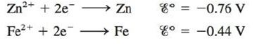 Chapter 17, Problem 77E, Consider the galvanic cell based on the following half-reactions: a. Determine the overall cell , example  1