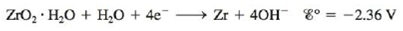 Chapter 18, Problem 82CP, Zirconium is one of the few metals that retains its structural integrity upon exposure to radiation. , example  1