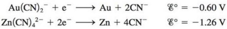 Chapter 20, Problem 73AE, Use standard reduction potentials to calculate , G, and K (at 298 K) for the reaction that is used , example  2