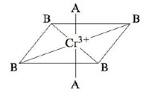 Chapter 20, Problem 90CP, Consider the pseudo-octahedral complex ion of Cr3+, where A and B represent ligands. Ligand A