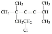 Chapter 21, Problem 140CWP, Name each of the following alkenes and alkynes. a. b. c. d. e. f. , example  5